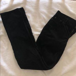 J. Crew Black Corduroy Pants